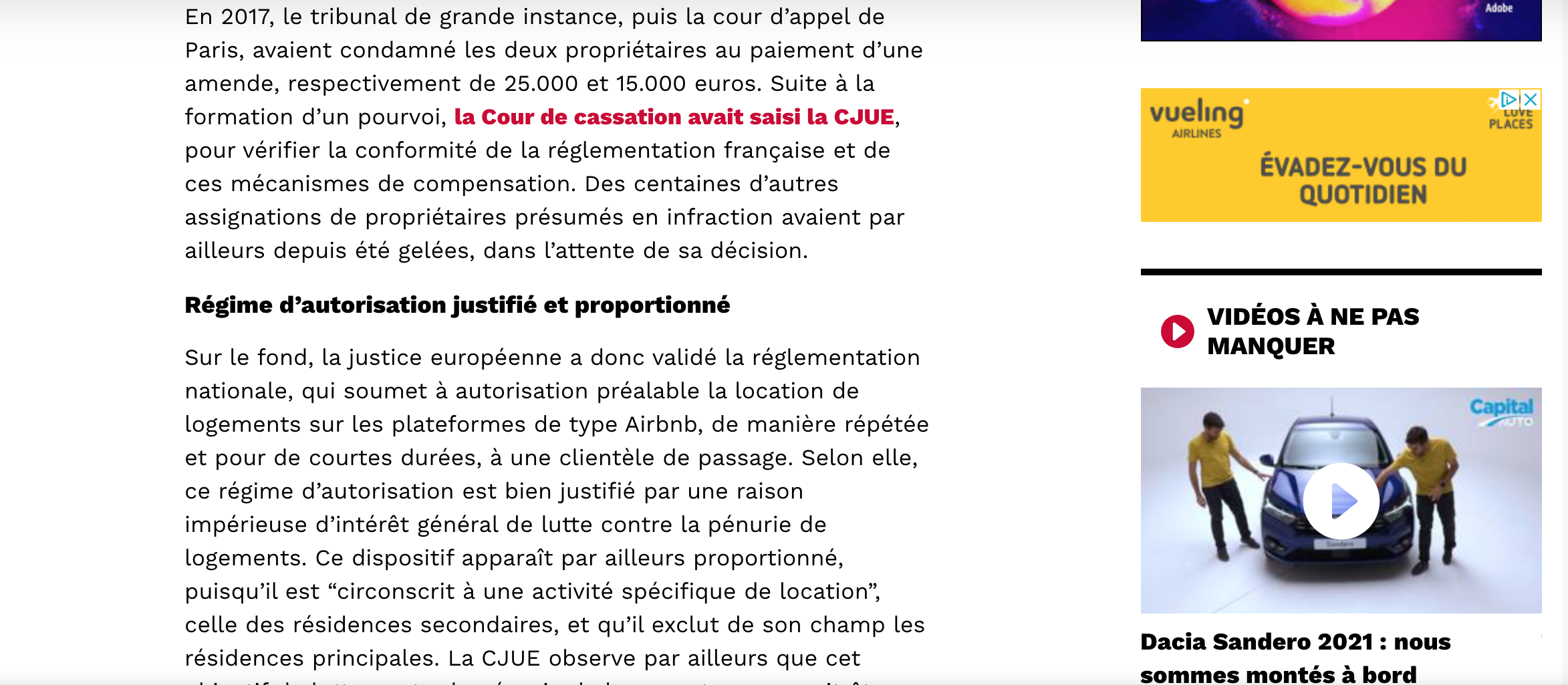 Capital airbnb CJUE