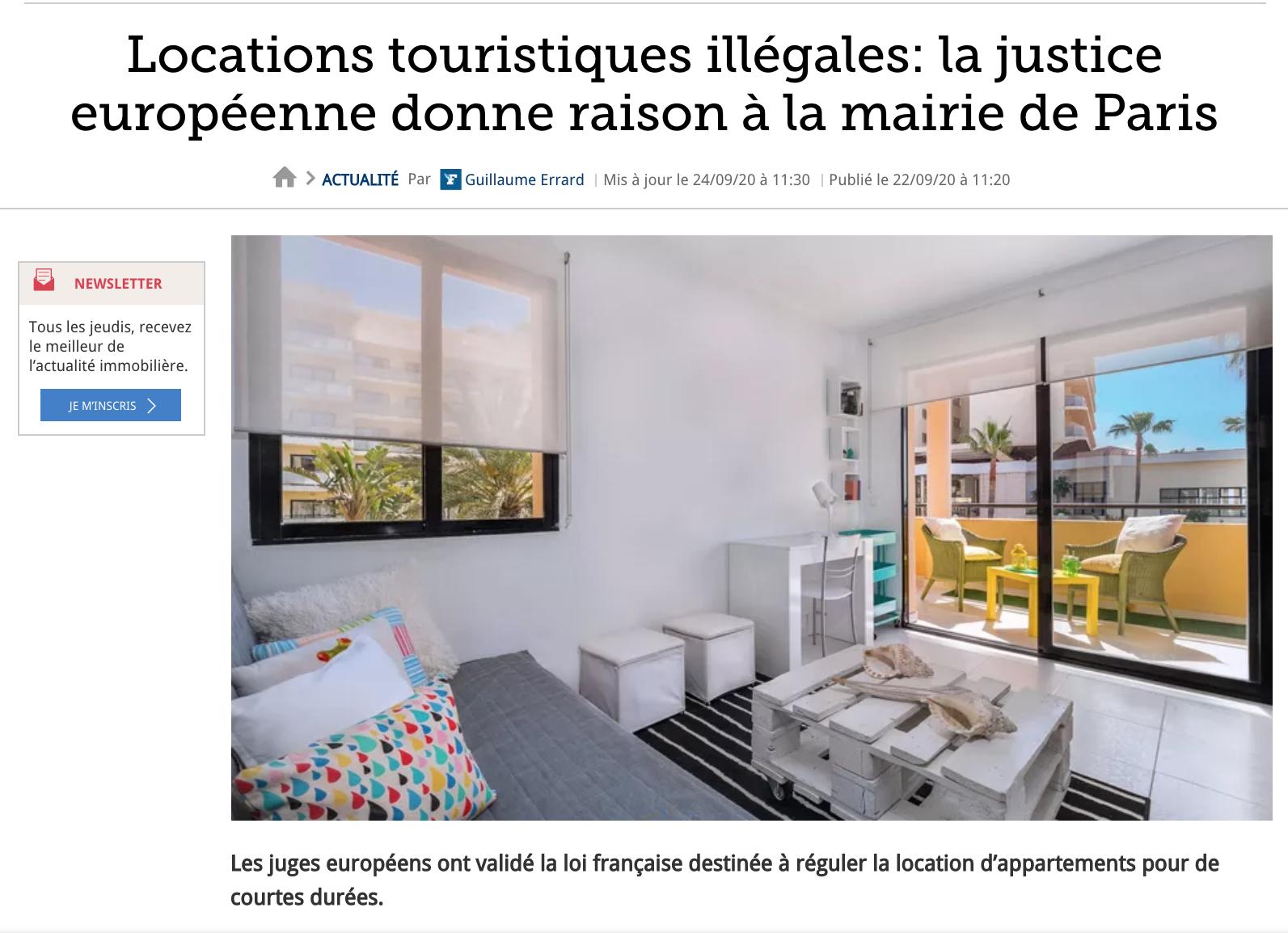 Figaro derhy airbnb CJUE